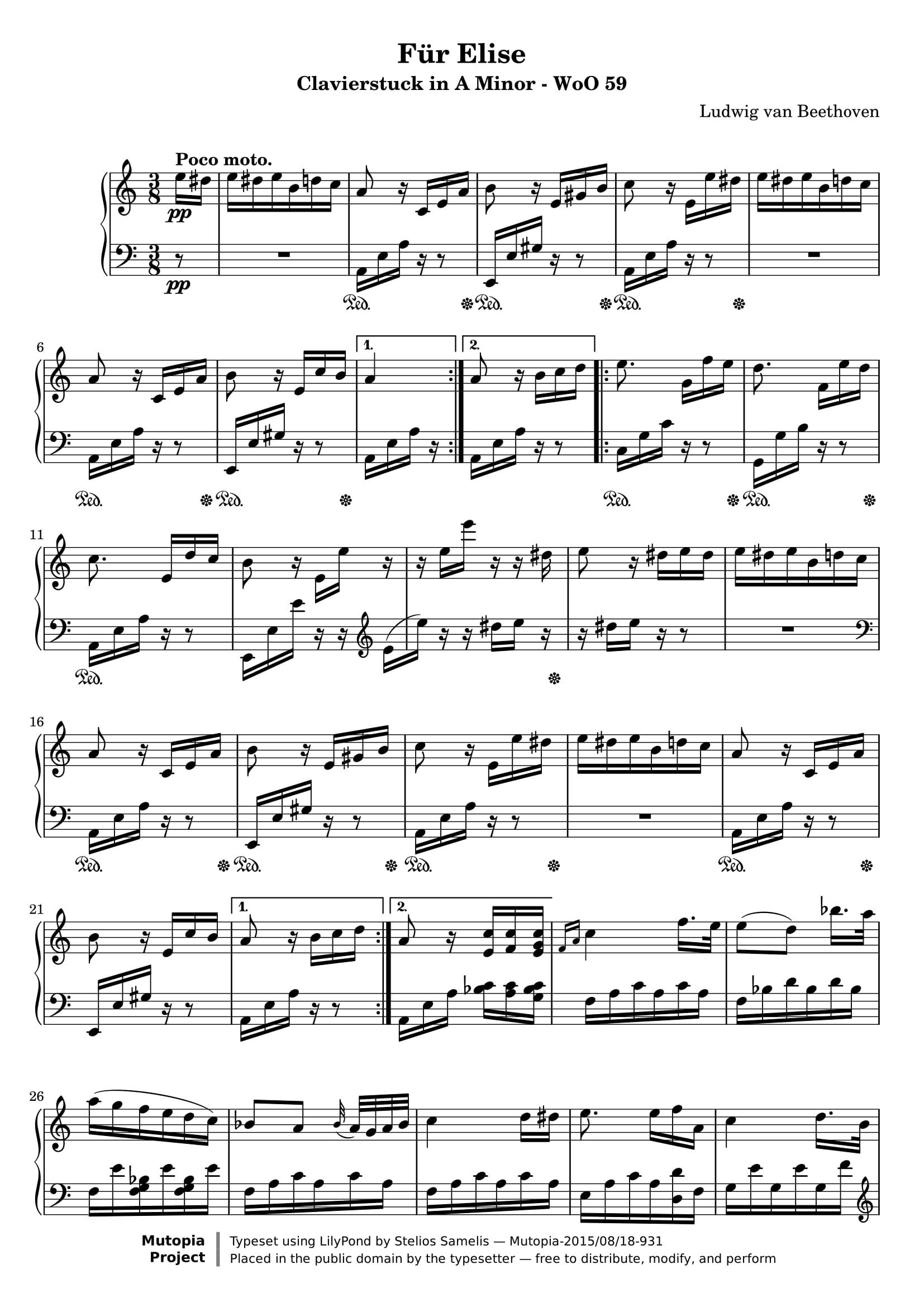 楽譜 ため に エリーゼ の